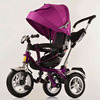 Purple 4/1 pusher baby triycle/three big wheels child tricycle/kid tricycle for 0-5 years
