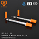 Disposable insulin syringes orange /red cap