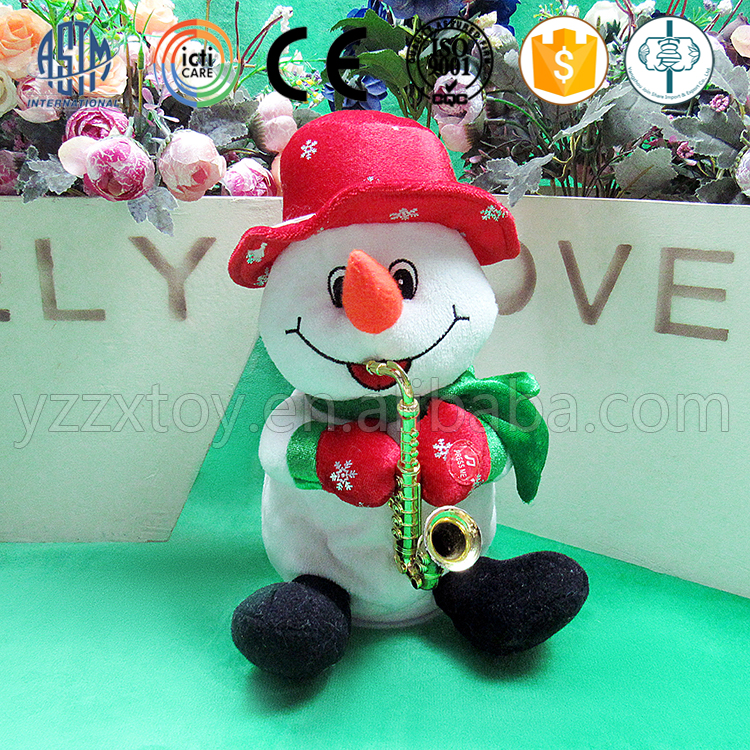 2016 Lastest christmas snowman talking toys for kids with red hat