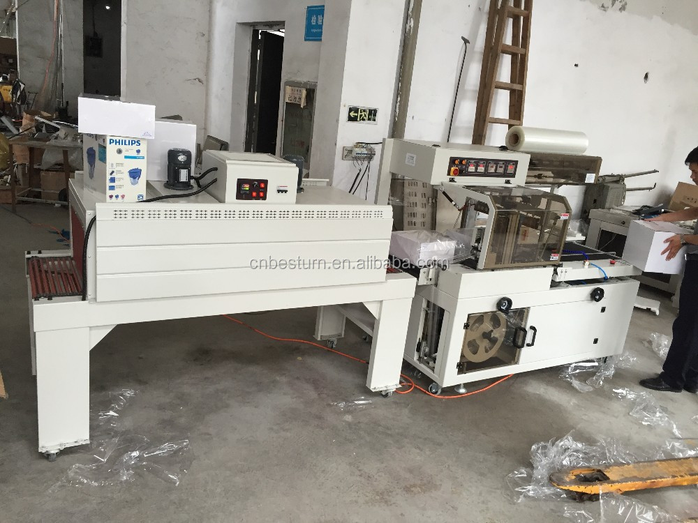 2016 fully closed L bar Sealer and shrink Packing Machine