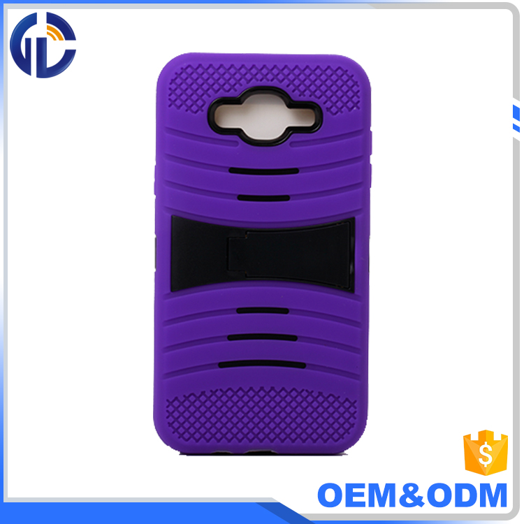 phone parts wholesale cell phone case pc kickstand cover case for samsung J7