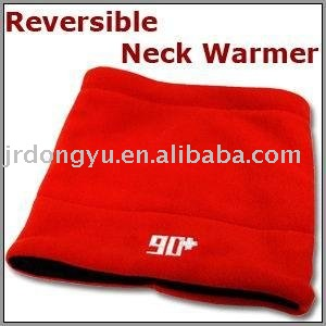 custom cheap red womens reversible neck warmer hat