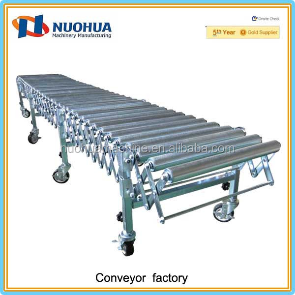 Flexible gravity roller conveyor shot blasting machine
