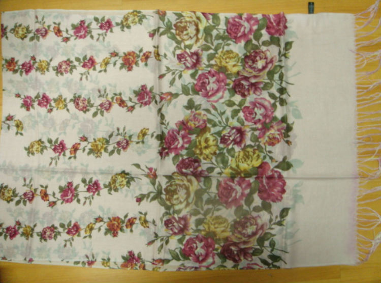 2014 China rose printed lady wool scarf