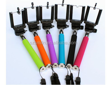 Newest beautiful colorful Selfie Stick Monopod Cell Phone Stand Holder by hand