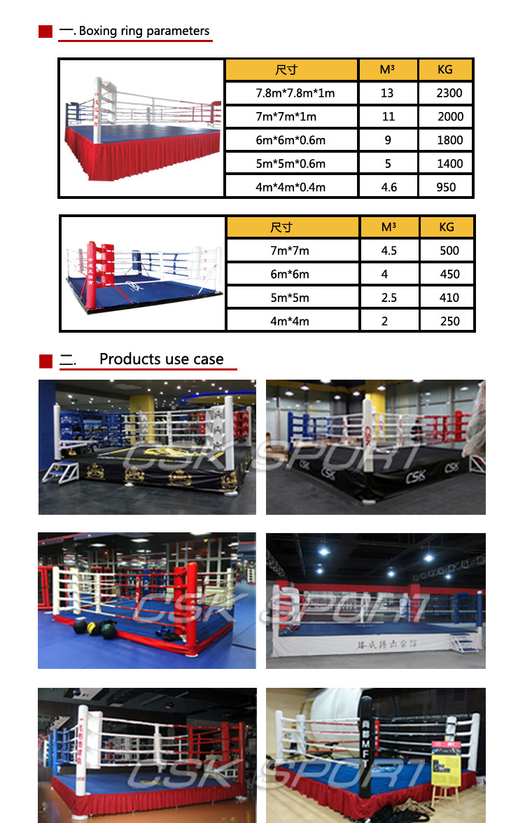 Floor Boxing Ring Boxing Ring Size