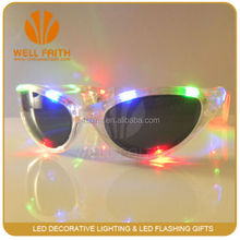 High quality promotion party gifts LED lighted up party sunglasses,brand new glow rave party club disco LED flashing sunglasse