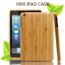 wooden For apple ipad mini case with colorful building print