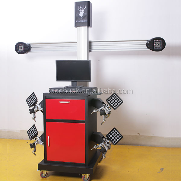 Roadbuck wheel aligner for digital balance