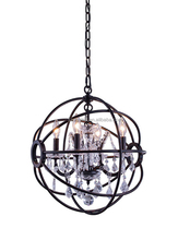 K9 glass vintage crystal pendent light round shape chandelier OGS-CL10