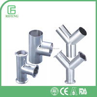 High Quality Sanitary Stainless Steel Brand Equal Tee