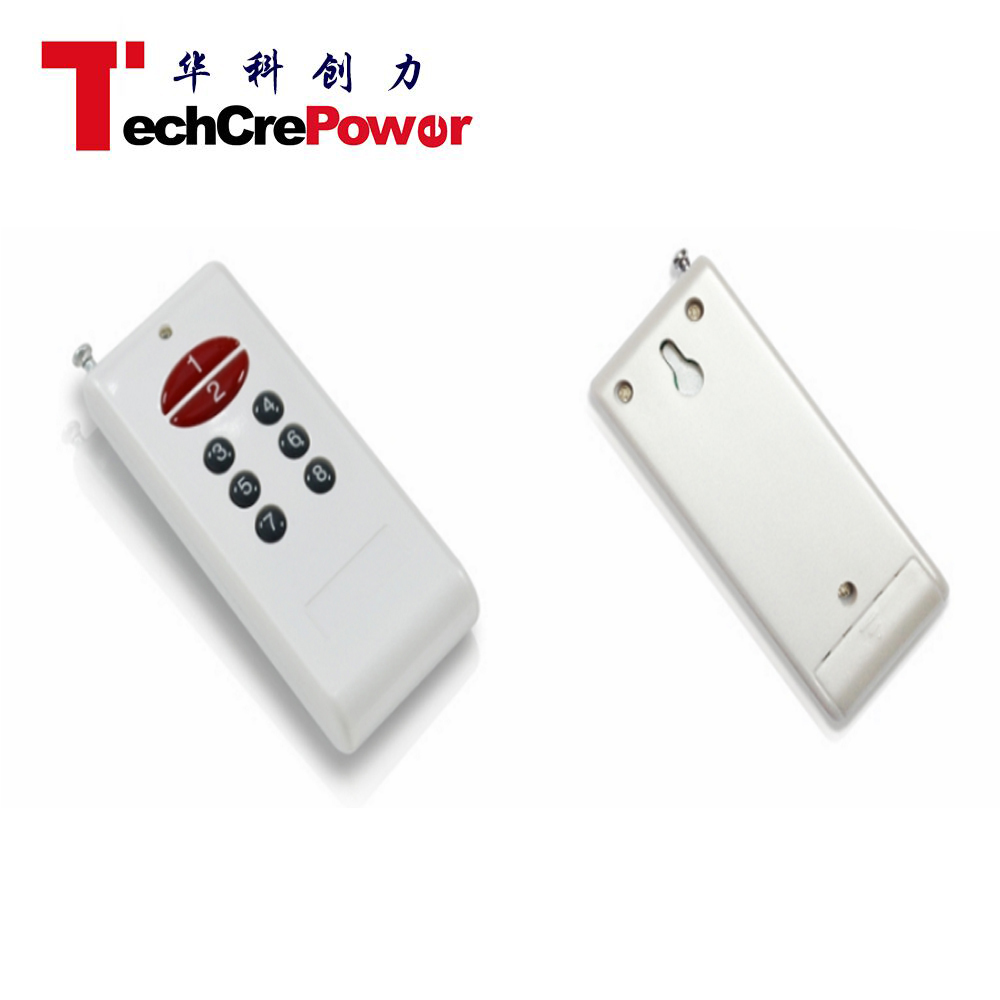 High Power 8 Buttons 1km RF Remote Control, Handheld Wireless Transmitter