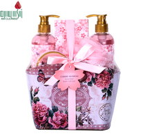 Promotional 5pcs body wash long-lasting fragrance beauty bath gift set for women