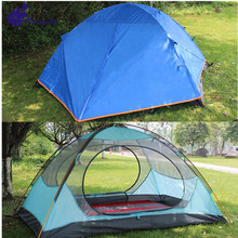 Double Layer Waterproof 3 Season Aluminum Pole Camping Pop Up Dome Tent folding beach tent trailer windproof for trakking camp