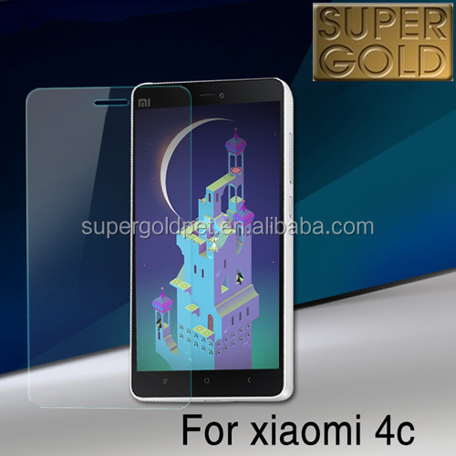 OEM available cell phone tempered glas screen protector for Xiaomi mi 4c