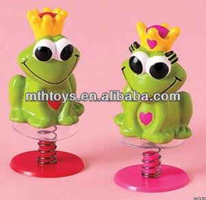 promotion toys- valentine's mini jump frog plastic toy