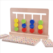 2017 New Product Four-color game, early teaching AIDS, enlightenment children logic wooden toys