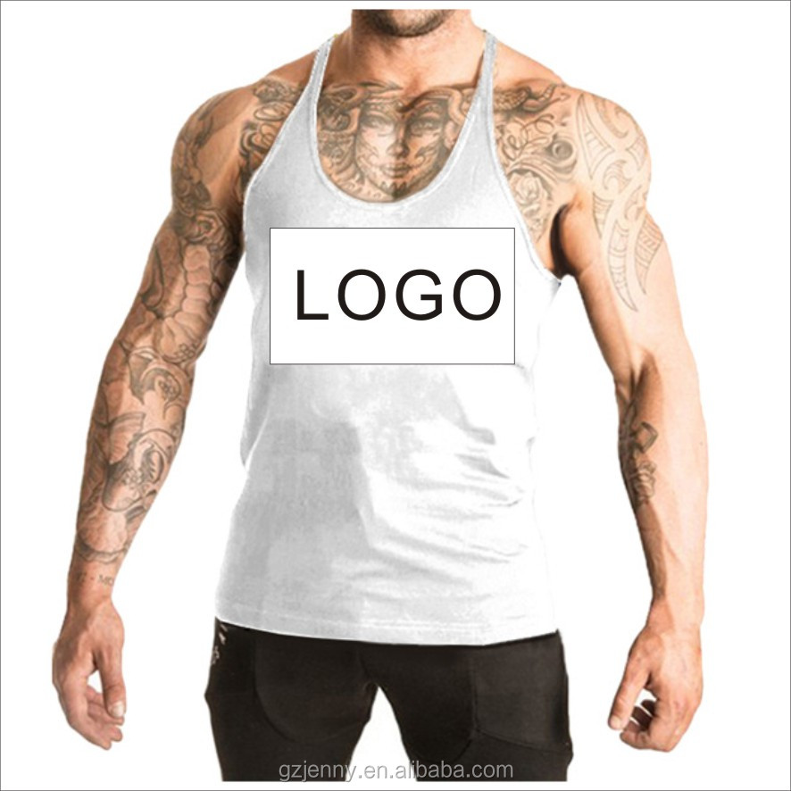 Wholesale Manufacturer Cheap Men Gym Bodybuilding Stringer Tank Top Custom