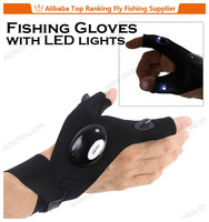 New designed with LED lights thin neoprene fishing gloves