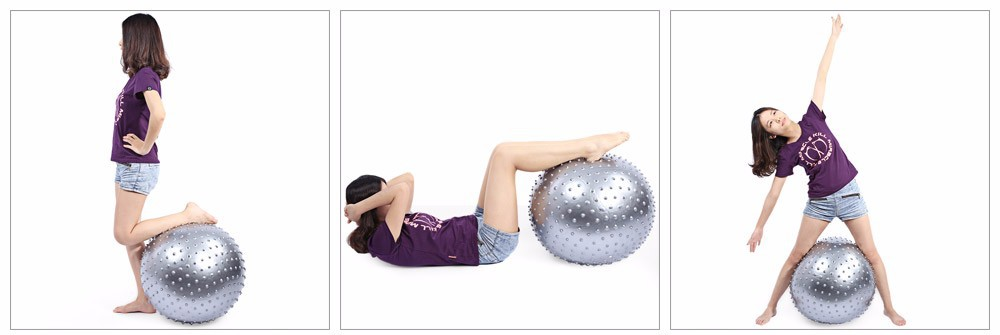 75CM Exercise Fitness Yoga Point Massage Barbed Ball Anti-explosion Kit Pilates ball Exercise Accessories