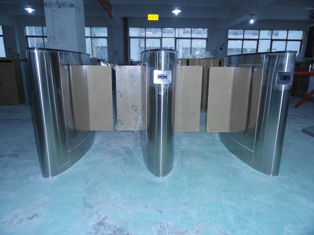 Office sliding glass lane turnstile