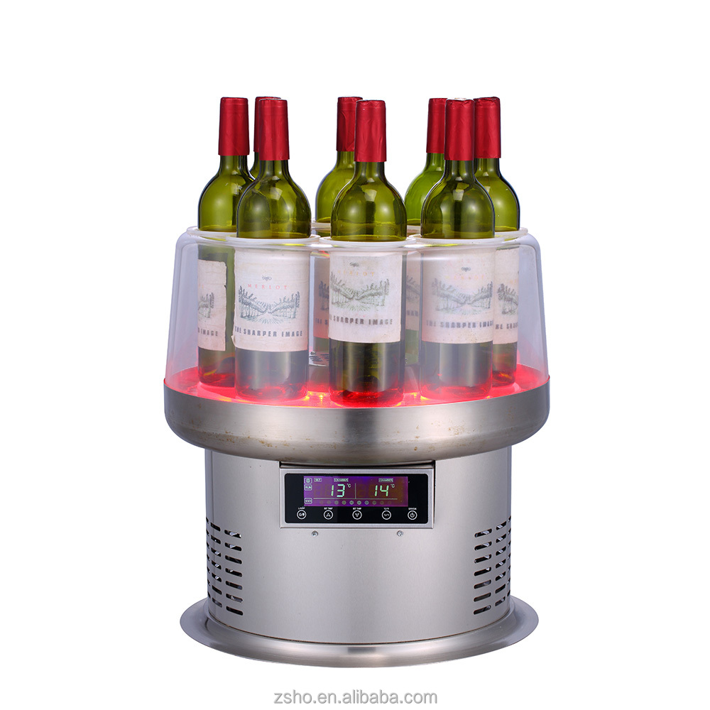 stainless steel casing mini display wine cooler chiller with soft led lighting for catering industry