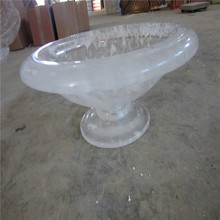 Wholesale crystal fruit bowl, bohemia crystal bowl