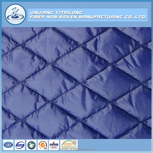 Nonwoven Polyester Fibre Batting Wadding Embroidery Quilted Fabric for Winter Down Coat