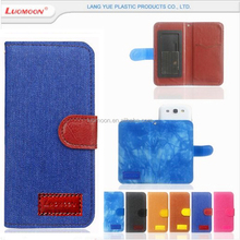 universal denim flip leather mobile phone cover case for Jiayu S3 G5s F2 G4 2 3 4 5 6 7