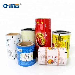 PET/VMPET/PE laminating snack nut packaging 125 micron food grade plastic film roll for potato chips