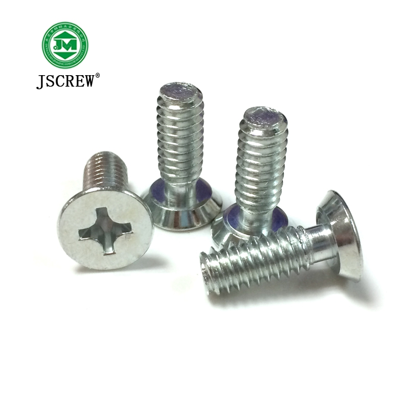 slotted binding head zinc plated bolt with beam