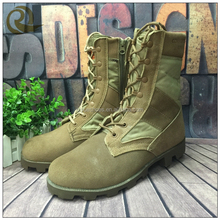2016 hot sell custome make combat desert high gloss military boots
