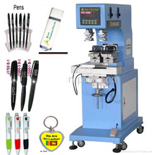 fast speed 2 color closed ink cup pad printing machine for felt tip pens ,plastic pen ,ballpoint pen