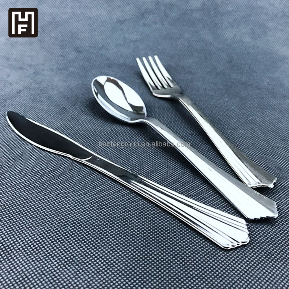 Silver White Silver Disposable Cutlery Set Wholesale