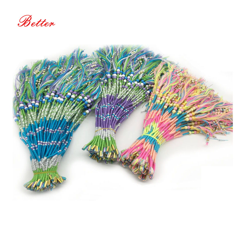 Newest fantastic colorful braid with fashion feather attractive