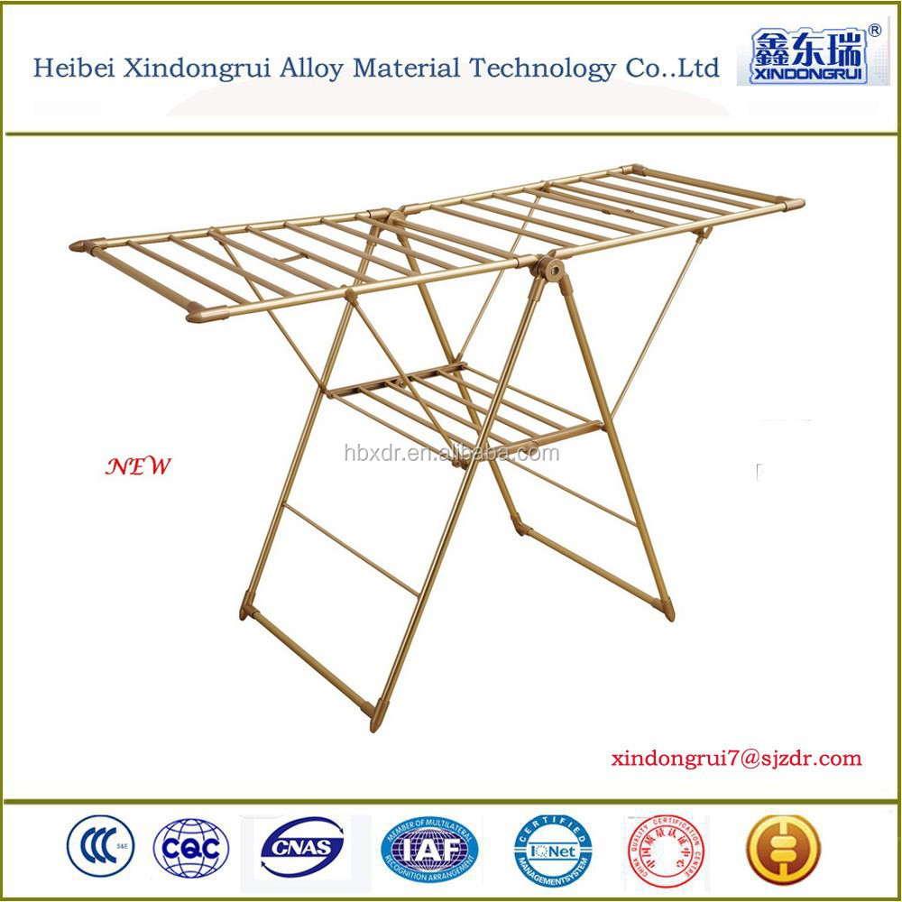 Foldable aluminium clothes drying rack/hanging stand/laundry dryer, Factory Price
