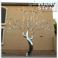 Large Artificial Metal Decorative Stainless Steel Tree Sculpture