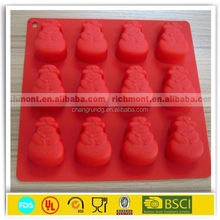 hot sale silicone cake moulds for Christmas/cake mould for dessert decorators
