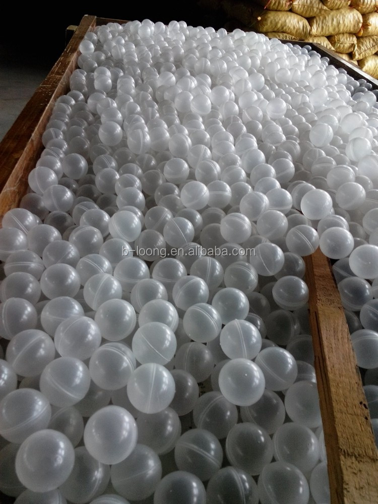 hollow plastic balls --- for removal of odor and mist