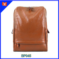 vintage style high quality ladies laptop backpack, leather backpack bag
