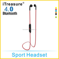 Whloesale Sports Bluetooth Headset for all mobile phopne music/ Wireless Mobile Earphone Bluetooth Headset for sport