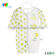 Wholesale summer oem bamboo fiber infant bodysuit clothing eco printing baby clothes bamboo wear