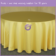 TP08212 Factory wedding decoration round champagne satin table covers