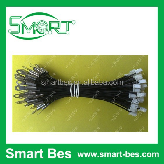 Free shipping 200pcs/lot Good quality NTC,NTC temperature sensor <strong>10</strong> <strong>k</strong> 1% 3950,120mm length with <strong>connector</strong> and nose