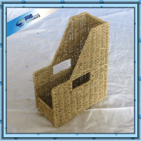 SD handmade rattan artcraft 1 slot office file rack for decoration