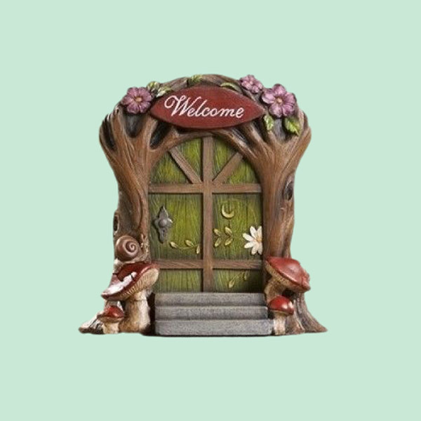 hot selling cheap miniature dollhouse garden welcome fairy door