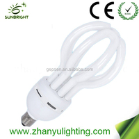 Hot sale lotus flower energy saver light bulb cfl Lotus energy saving 4u CFL 85w T5 E27 new led light
