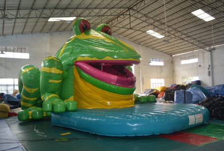 Inflatable speaking frog bouncer, Inflatable speaking frog castle, Inflatable speaking frog combo