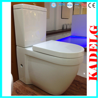 Western design porcelain two piece pedestal toilet