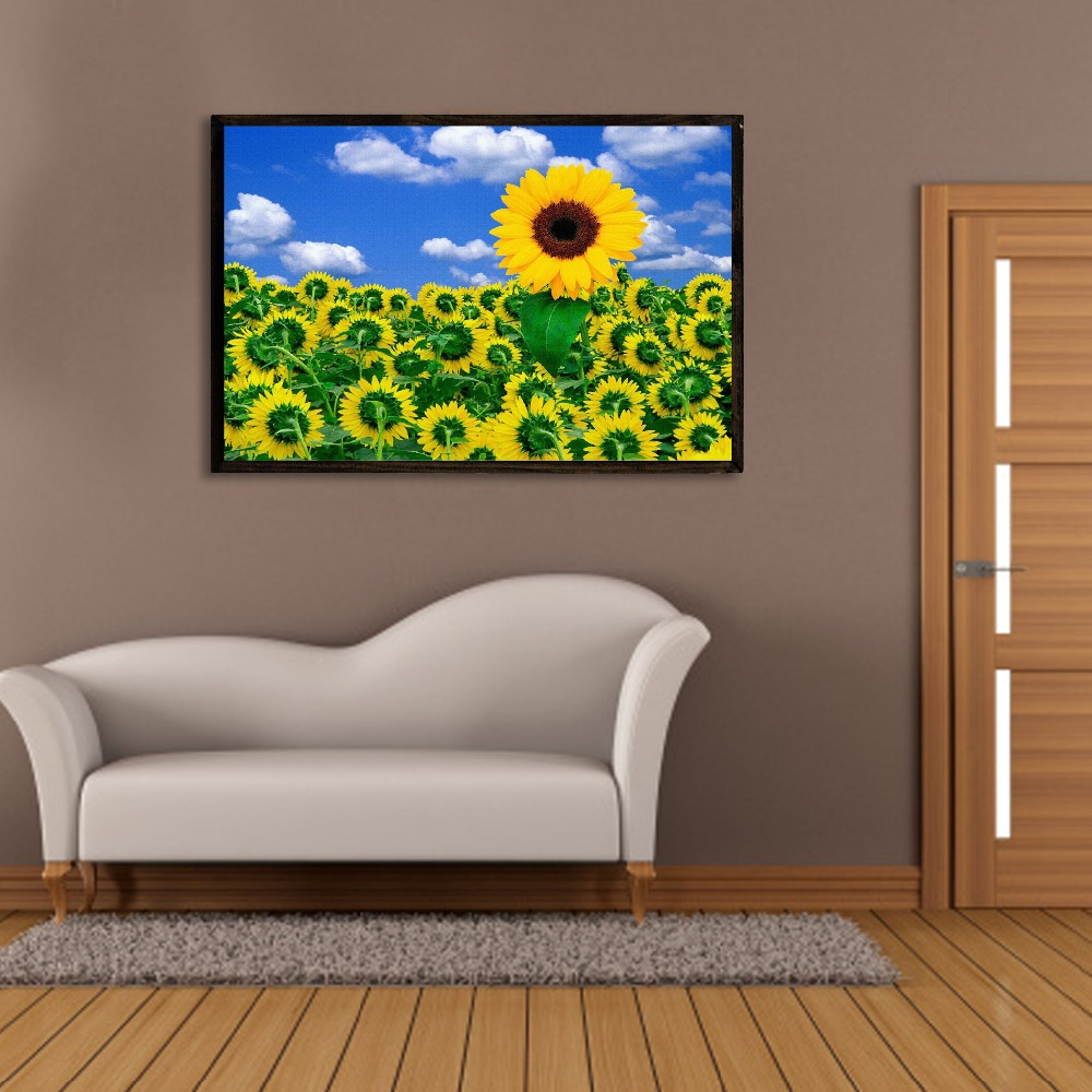 Outdoor decor plaque wall drawing simple flower paintings